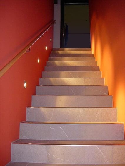Plattenbelag Treppe
